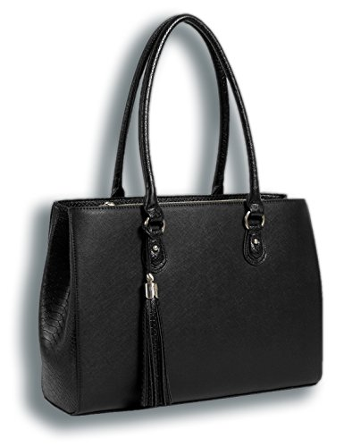 BfB Laptop Tote and Tablet Bag – Lightweight Handmade Designer Work Tote – BLACK
