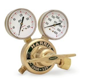 Harris 3530-125 1/2NPTF-IN/OUT Manifold Pressure Regulator, 0 - 125 PSIG