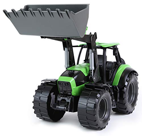 Lena Tractor Deutz-Fahr Agrotron 7250 Ttv Farm Toy, Realistic Scoop Lifts and Moves Like Its Real-World Counterpart