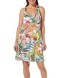 1c4ebb98f4 Womens Tropical Palm Print Dress Swim Cover-Up · Paradise Bay