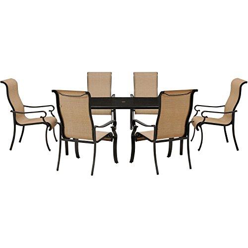 Hanover Brigantine 7-Piece Dining Set Tan BRIGDN7PC-GLS