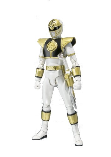 Bandai Tamashii Nations Mighty Morphin Power Rangers White Ranger S.H. Figuarts Action Figure (White Ranger Costume)