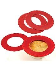 Norpro 3280 Silicone Mini Pie Pan Shields, Set of 4