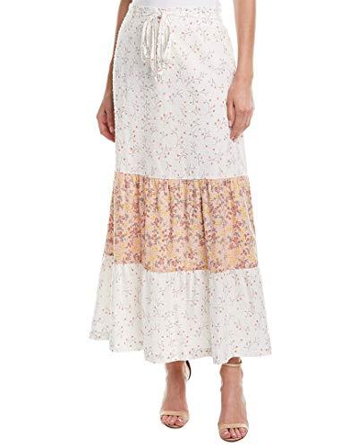 - BCBGeneration Women's Floral Dancers Maxi Skirt, Antique White, S