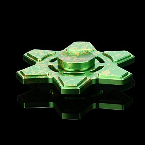 Coohole Tri Fidget Hand Spinner Triangle Torqbar Finger Toy EDC Focus ADHD Autism Kid Toy (Green) - 3