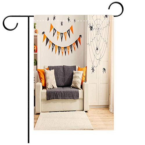 BEICICI Custom Personalized Garden Flag Outdoor Flag Interior of House Decorated for Holiday Halloween Decorative Deck, Patio, Porch, Balcony Backyard, Garden or Lawn]()