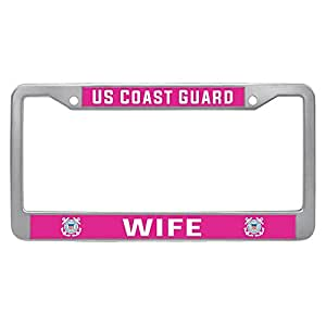 Amazon Com Us Coast Guard Wife License Plate Frame