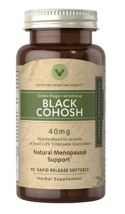 Vitamin World Black Cohosh Standardized Extract 40 mg. 90 rapid release softgels