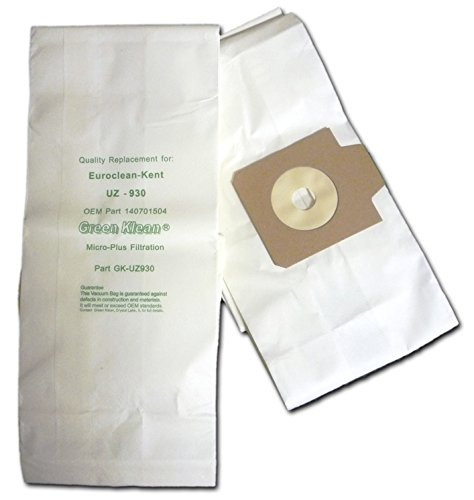 Green Klean GK-UZ930 Replacement Vacuum Bags (Pack of 100)