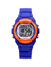 Time100 Kid's Watches Digital Timing Alarm Led BackLight Multifunctional Waterproof Sport Electronic