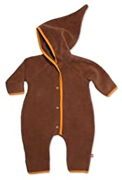 Zutano Baby Cozie Elf Romper, Chocolate, 6 Months ( 0 6 months)