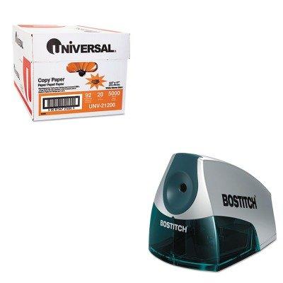 (KITBOSEPS4BLUEUNV21200 - Value Kit - Stanley Bostitch Compact Desktop Electric Pencil Sharpener (BOSEPS4BLUE) and Universal Copy Paper (UNV21200))