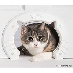 Cat Door Built In Interior Pet Door for Small, Medium, & Large Cats - Cat Doors for Interior Doors - Hole Pass Fits Indoor Hollow Core or Solid Inside Doors - Hidden Kitty Litter Box Cat Furniture 15
