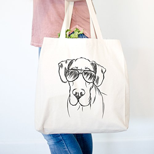 Titus the Great Dane Heavy Duty 100% Cotton Canvas Tote Shopping Reusable Grocery Bag 14.75 x 14.75 x ()