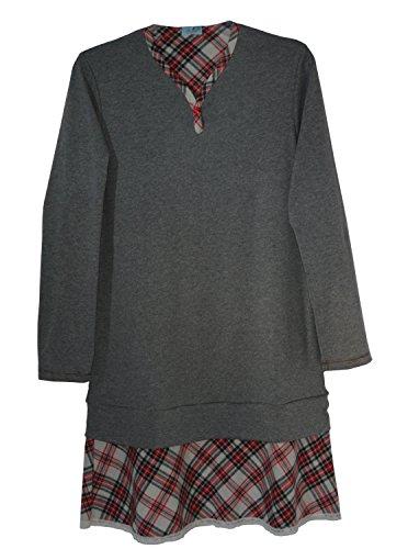 Andra Dreamwear Interlock Cotton One-Botton Sleepshirt with Scottish Design