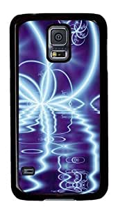 Rugged Samsung Galaxy S5 Case and Cover - Abstract Art Light Effect Custom Design PC Case Cover for Samsung Galaxy S5 - Black