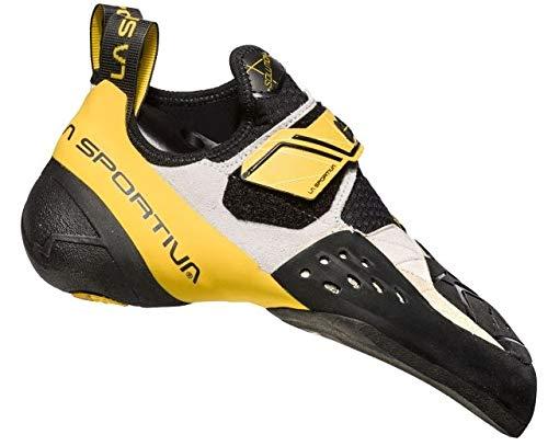 La Sportiva Solution Climbing Shoe - Men's, White/Yellow, 45