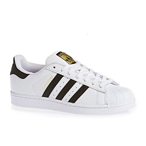 Adidas Superstar C77124 Unisex Lave Sko I Størrelse 42 Hvit Svart