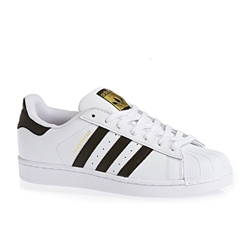 Baskets Basses Adidas Superstar C77124 Unisexes Taille 42 Blanc Noir