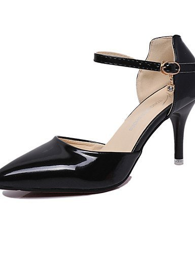ShangYi Womens Shoes Leatherette Stiletto Heel Heels / Pointed Toe Heels Wedding / Office & Career / Casual Black / Pink Yellow