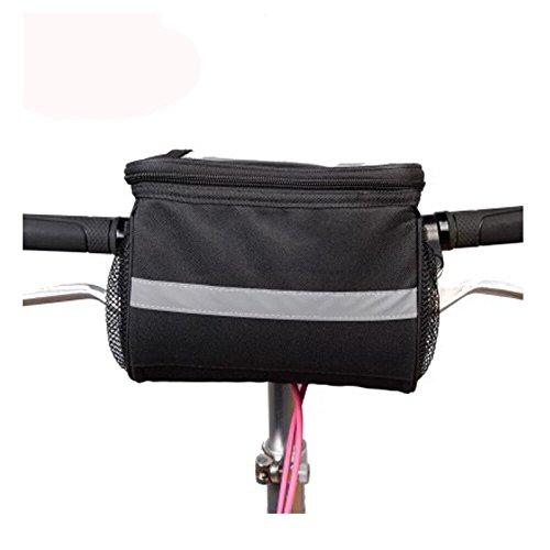 Fahrrad Korb Lenkertasche mit Remasuri grau reflektierendes Streifen Outdoor Activity Fahrrad Pack Zubehör