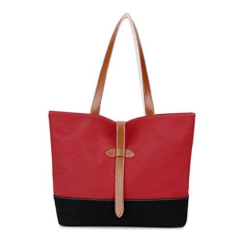 Nueva Bolsa Canvas Bolso Handbag Solo Lona E Tote Bolso Bolso D De Meaeo Fq06ZAnn