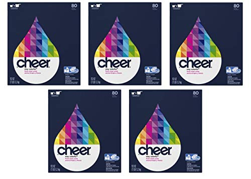 Concentrated Cheer Ultra Fresh Clean Scent Powder Laundry Detergent, 80 Loads, 112 oz (Pack of 5)