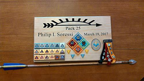 (Arrow of light award, Arrow of light large plaque, Arrow of light ceremony, Cub Scout Arrow of light, Webelos Arrow of light, Scout Award Display, Crossover Ceremony)