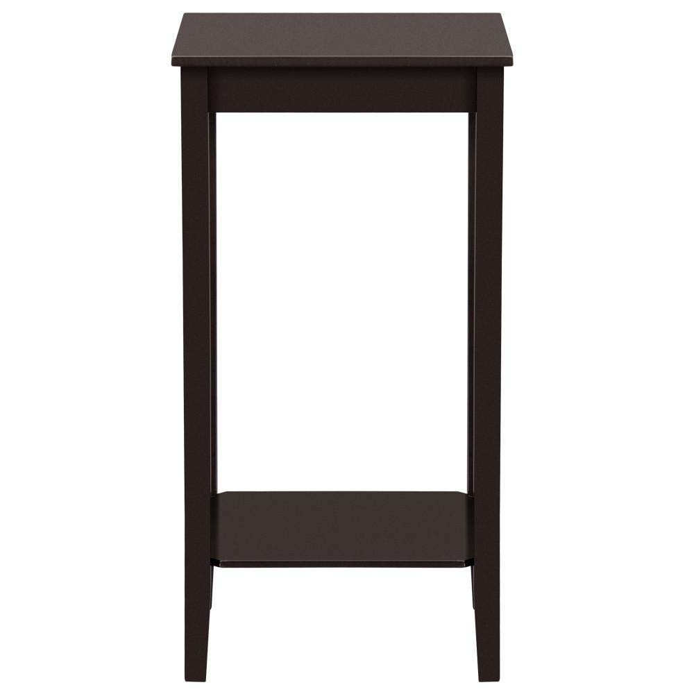 Yaheetech Modern Tall Wood End Table SOFE Couch Side Coffee Table Simple Design, Espresso by Yaheetech