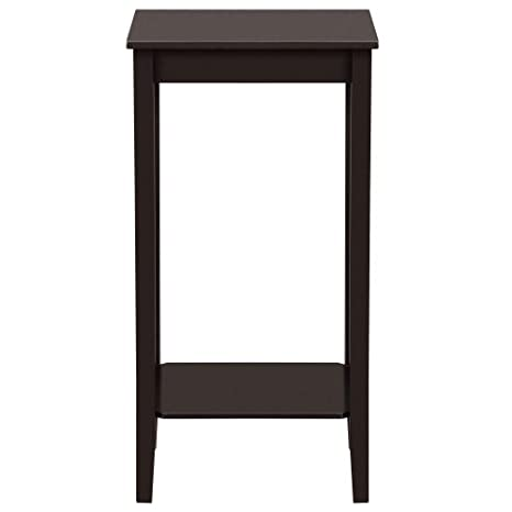 Remarkable Yaheetech Modern Tall Wood End Table Sofe Couch Side Coffee Table Simple Design Espresso Ncnpc Chair Design For Home Ncnpcorg