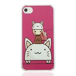MOFY- el gato y el caso duro del patr—n de la vena del cuero de la muchacha de la PC para el iphone 4/4s