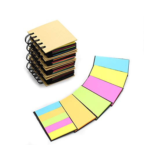Tueascallk Combination Sticky Notes, Pop-up Self-Adhesive Notes, Portable Self-Stick Note Pads, Spiral Notebook, 3.3