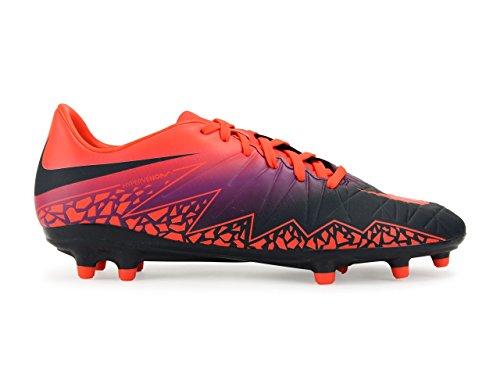 Nike Mens Hypervenom Phelon Fg Totala Crimson / Obsidian / Levande Lila Fotbollsskor