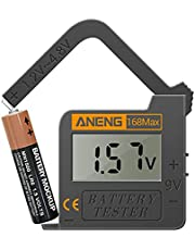 CLHPT 168MAX Battery Tester for AA AAA C D 9V 1.5V Button Cell Batteries,Portable Universal Household Digital Battery Charge Checker