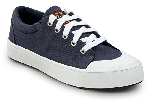 Skechers Zapatillas De Skate Kendall Canvas Soft Toe Antideslizantes Para Mujer, Azul Marino / Blanco