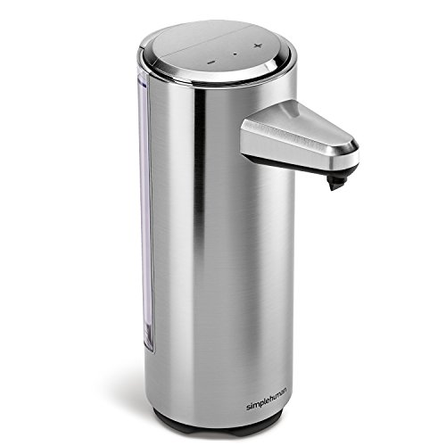simplehuman 8 oz. Sensor Pump with Soap Sample, Brushed Nickel - One High Speed Usb