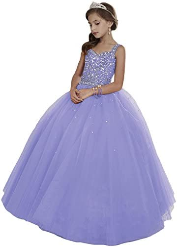 HuaMei Princess Beaded Pageant Dresses