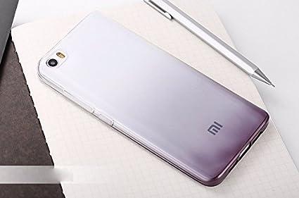 meet b2816 d5bf0 Loxxo® Back Cover for Xiaomi Mi 5 Soft Silicone Gradient Case Cover for  Xiaomi Mi5 (Black)
