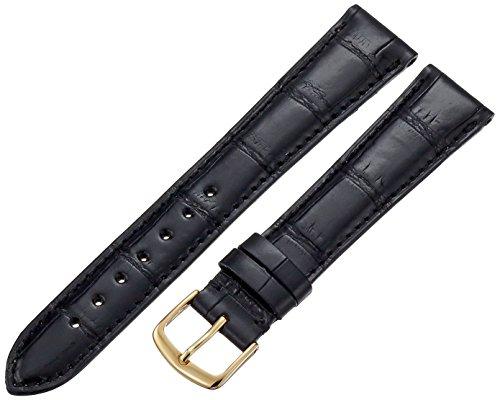 Hadley-Roma Men's MS2007RA-190 19-mm Black Genuine Alligator Leather Watch Strap