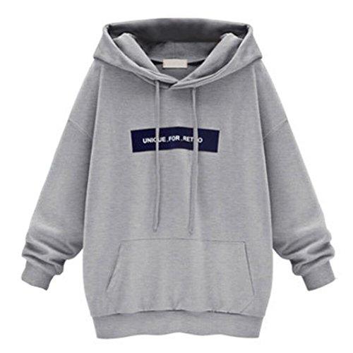 Nice Amiley hot sale Womens Long Sleeve Plus size Hoodie Sweatshirt Jumper Hooded Pullover Tops Blouse