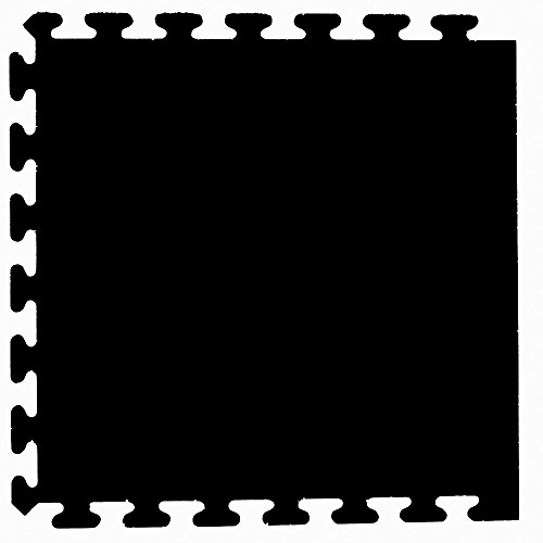 Black 24 in. x 24 in. Finished Side Recycled Rubber Floor Tile (16 sq. ft./ case) by I-Flex
