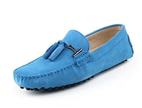 Minitoo - Sandalias con cuña mujer azul celeste