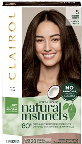 (Natural Instincts Clairol Non-Permanent Hair Color - 5 Medium Brown - 1 Kit)