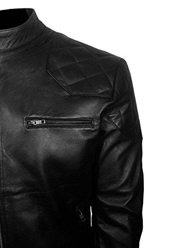 Skyseller uk Giacca Biker Black Uomo SfSRxr4