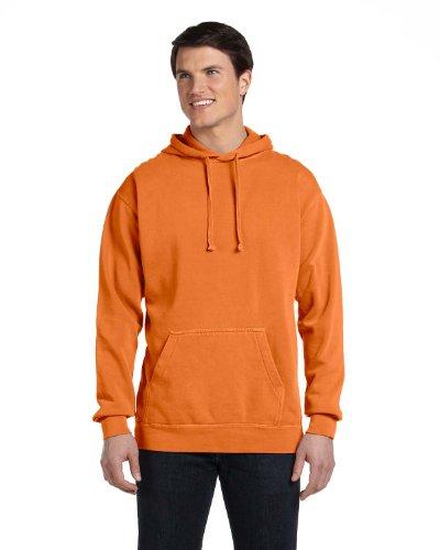 Comfort Colors mens 9.5 oz. Garment-Dyed Pullover Hood(1567)-BURNT ORANGE-M