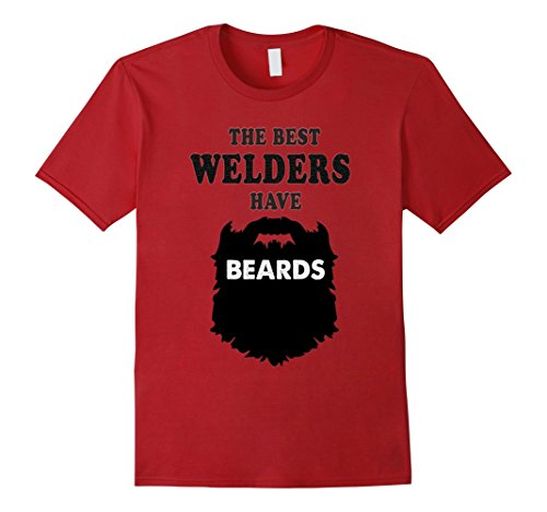 Mens welding and welder gift tshirt, costume bearded beards tees Large (Costume For Bearded Man)