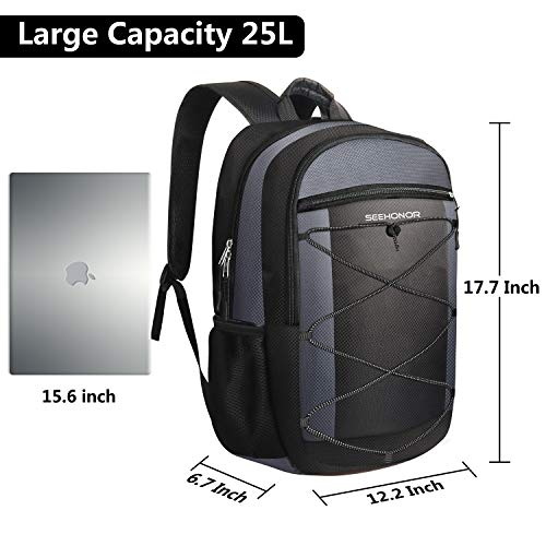 Laptop Backpack, SEEHONOR Travel Laptop Backpack with USB Charging Port, 15.6 Inch Slim Business Computer Backpack for… 6