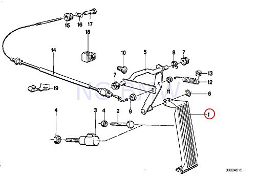 BMW Genuine Accelerator Pedal Assy