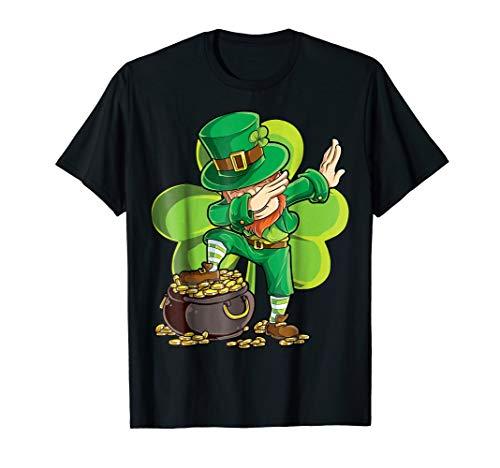 Dabbing Leprechaun Shirt St Patricks Day Kids Boys Women Men