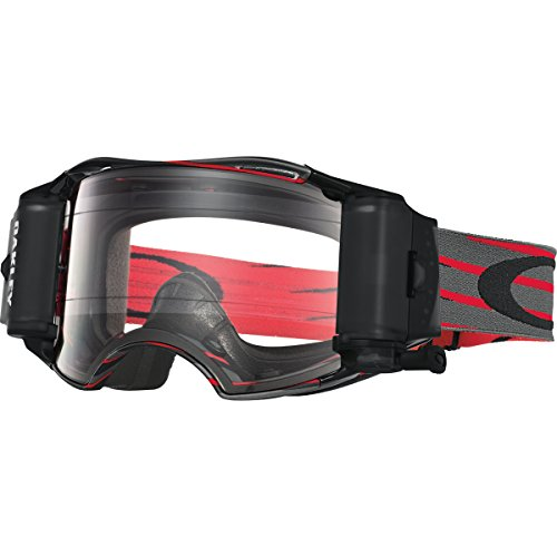 Oakley Airbrake MX Nemesis Goggles (Red/Gunmetal/Clear) by Oakley